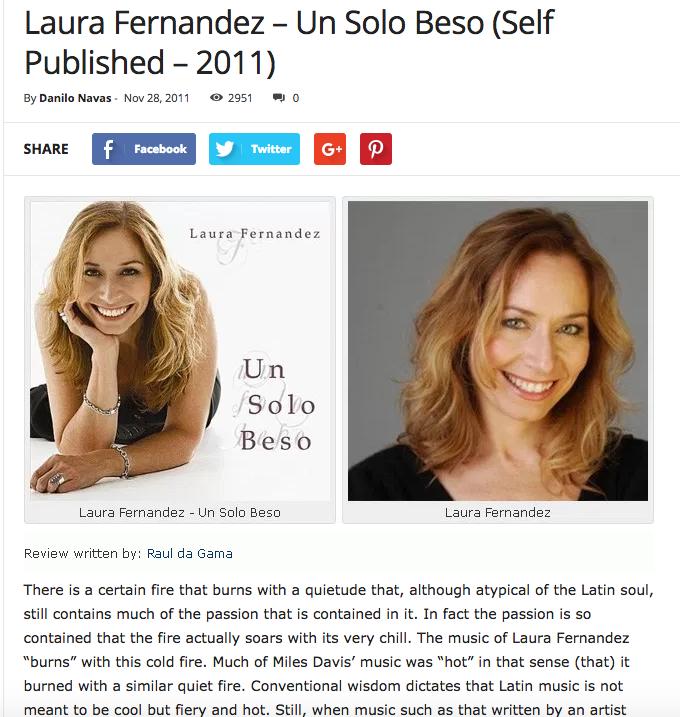 Laura Fernandez - Un Solo Beso Review by Danilo Navas
