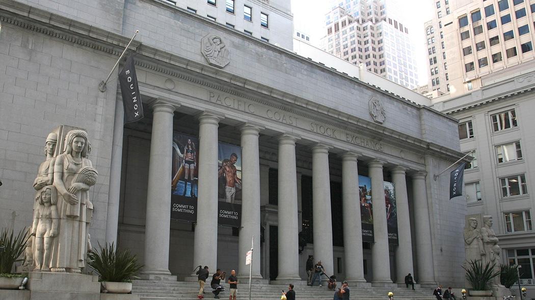 Equinox Gym  – Former San Francisco Stock Exchange Building - San Francisco California