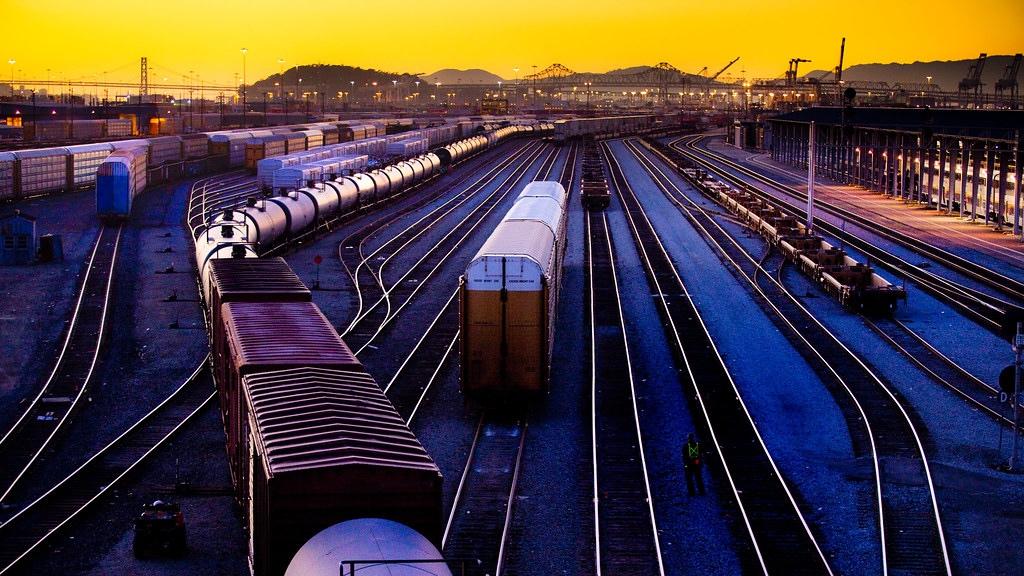 Union Pacific Railroad Yard  - Oakland California