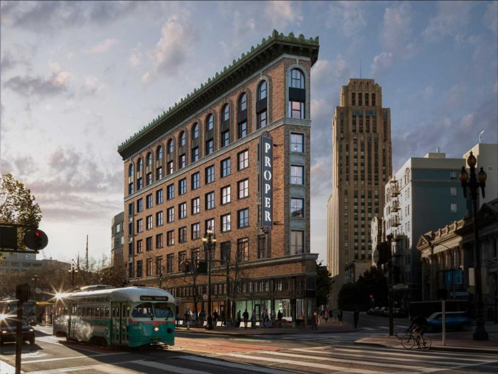 Proper Hotel, San Francisco - The historic Renoir Hotel conversion involved seismic retrofit and historic refurbishment of an existing high-rise building on Market Street in San Francisco. Rehabilitation work required close coordination with the historic preservationists and architects.