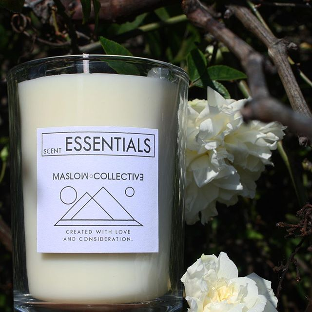 With spring around the corner, time to get a floral candle 🕯 ESSENTIALS is a soy candle with the scent of rose and water lilies 🌸🌹🌺 8 oz candles burn for almost 120 hours 🔥 #maslowcollective #candle #candles #scentedcandle #soycandles #soycandle #spring #floral #flowers #flowerstagram