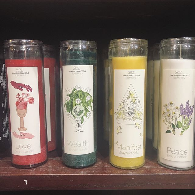 Come to @mysticjourneyla to shop the prayer candles in person!!!! #candle #candles #prayercandles #mysticjourneybookstore #mysticjourneyla #venice