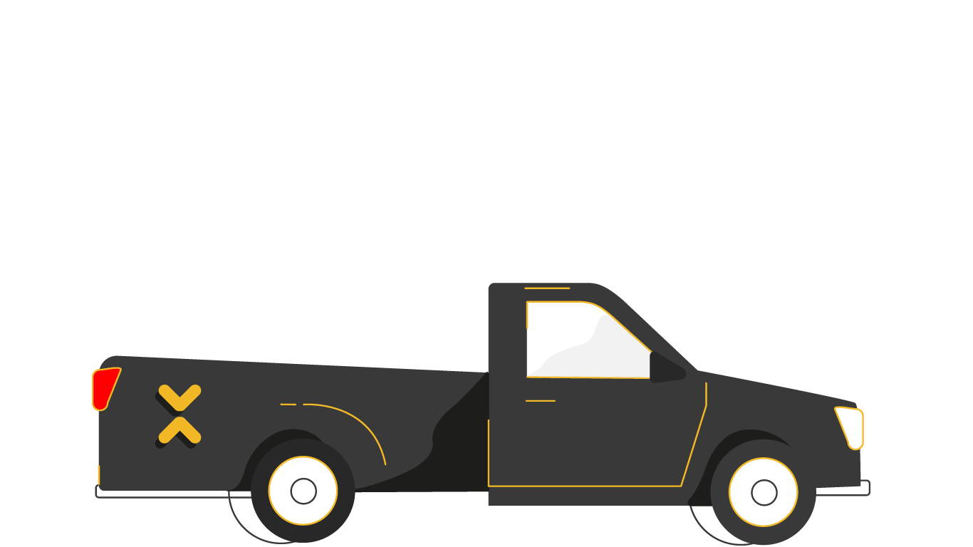 Dababa - The most common, powerful, and reliable pickup truck type, Ideal for most moves. (up to 1 Ton)Cab Dimensions: (2.3m Length x 1.7m Width x 0.38m Height)