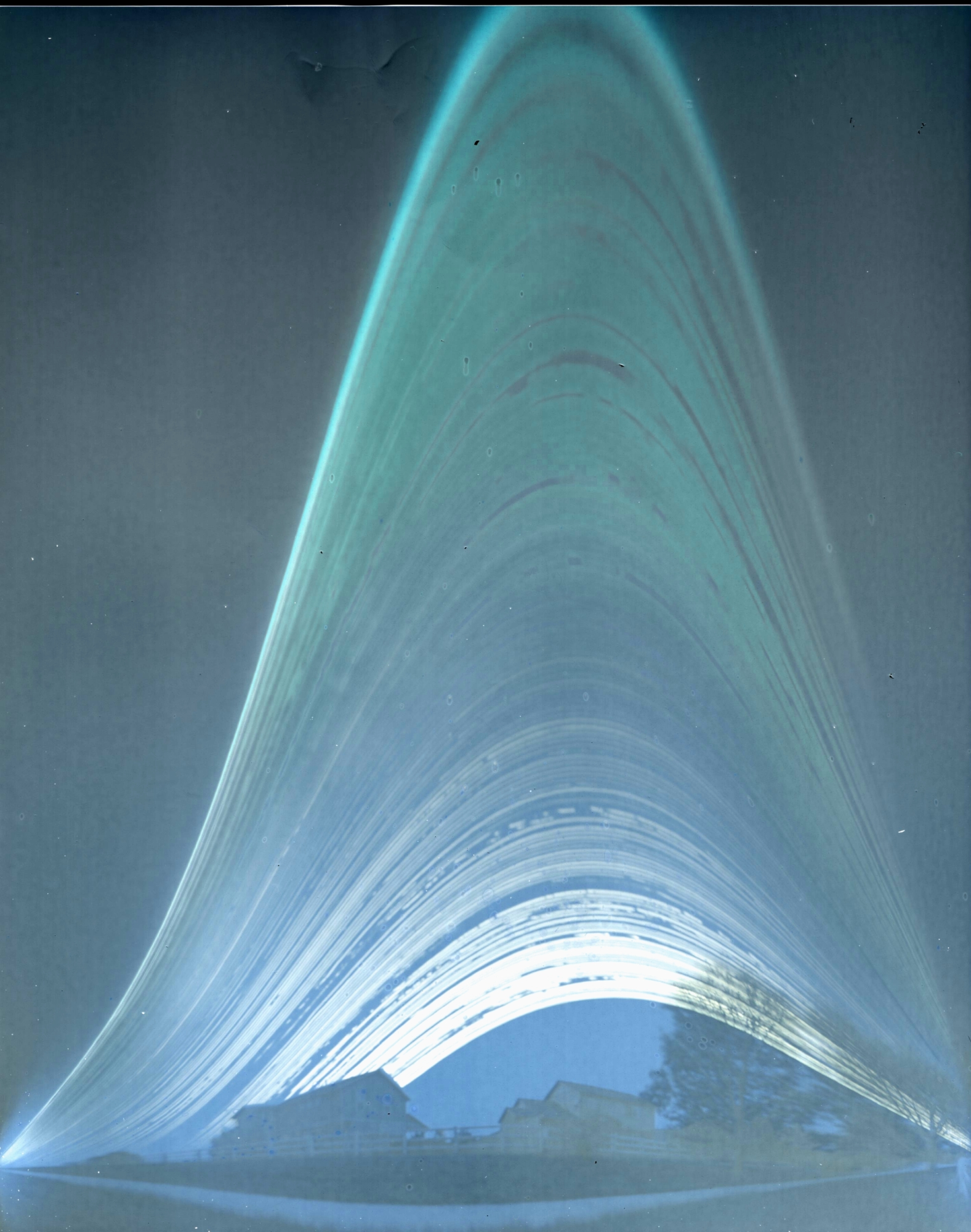 Six-month exposure solargraph by Dan Staley
