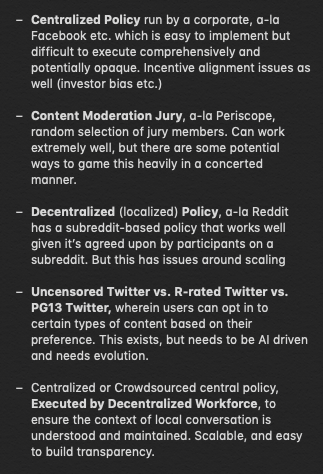 On Twitter and Twitter Policy    — 2 0
