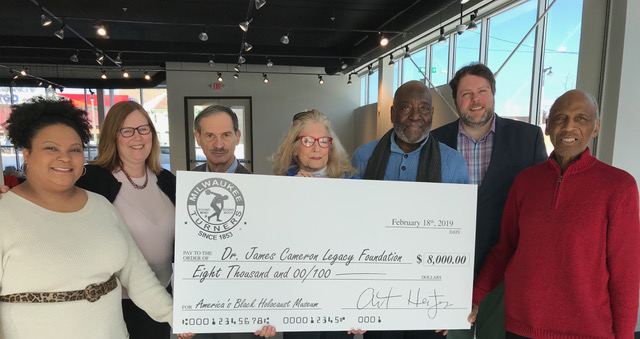 Milwaukee Turners presenting $8,000 matching donation to ABHM on Monday, February 18, 2019