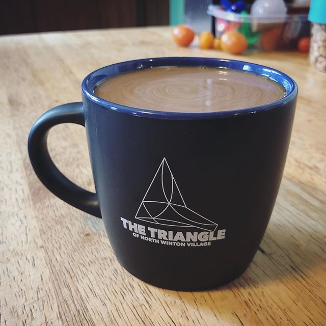The best part of waking up, is coffee in your Triangle mug! We have a new order of mugs in for our new Triangle neighbors! 🏡🤝☕️ #trythetriangle #rochesterny #thisisroc