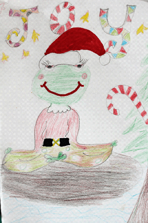 Picture created by a child participating in our Mindfulness for Children course in Cork (based on Eline Snel Method)