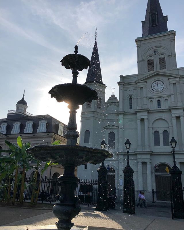 Day 2: ✔️ A walking tour around the French Quarter and St. Louis No. 1 Cemetery. A stroll through Armstrong Park and Congo Square. Relaxing next to St. Louis Cathedral and listening to Jazz along Frenchman Street. Another full day with happy hearts!