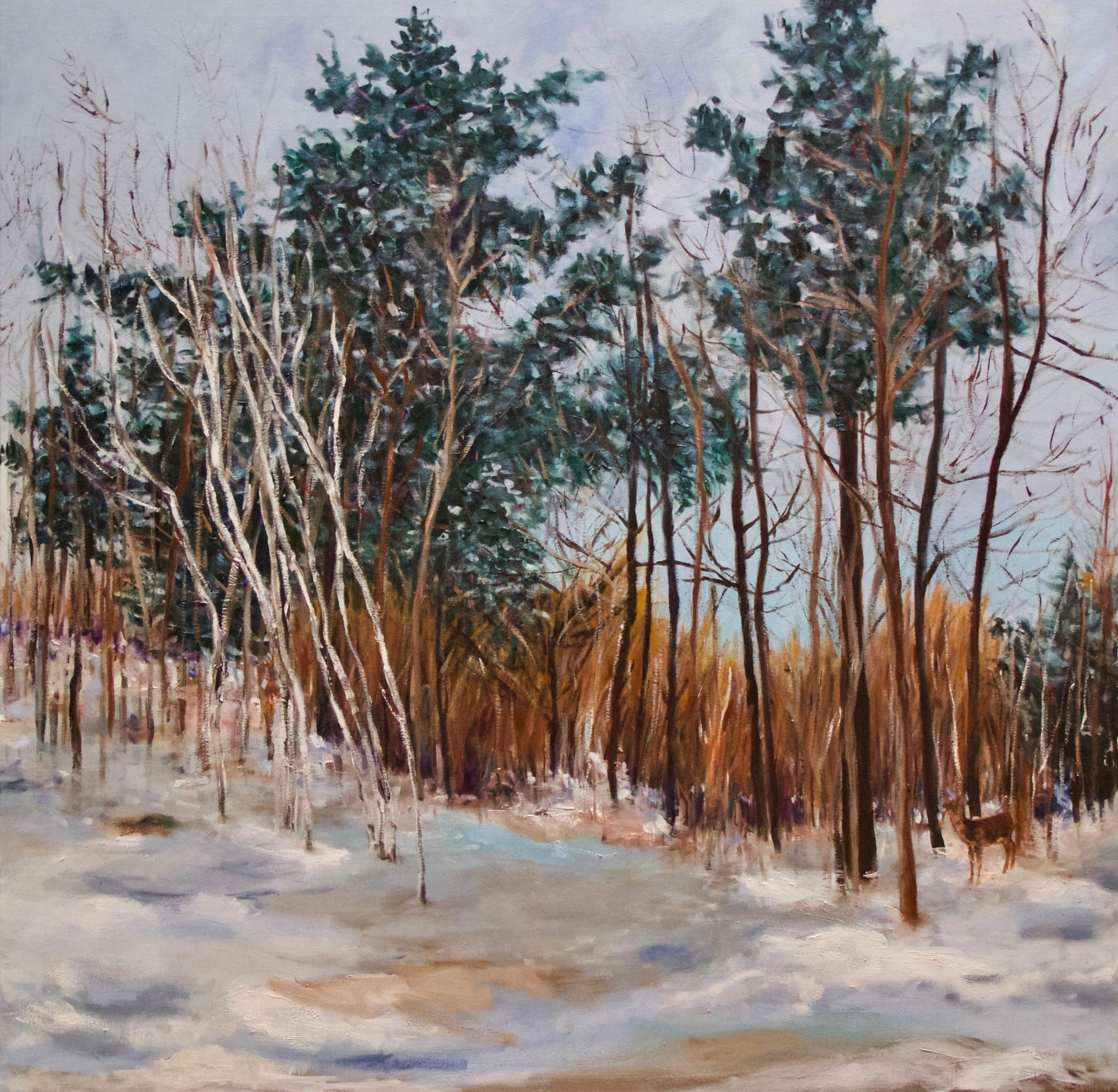 "Walk in the Woods (2) oil on canvas 40""x40"""