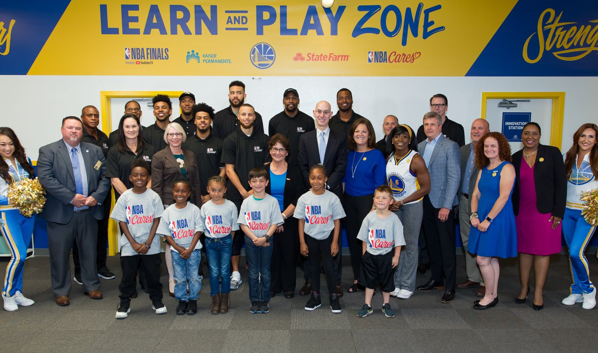 Copy of NBA and Golden State Warriors dedicate a NBA Cares Learn Play Zone at the Boys & Girls Club of San Leandro