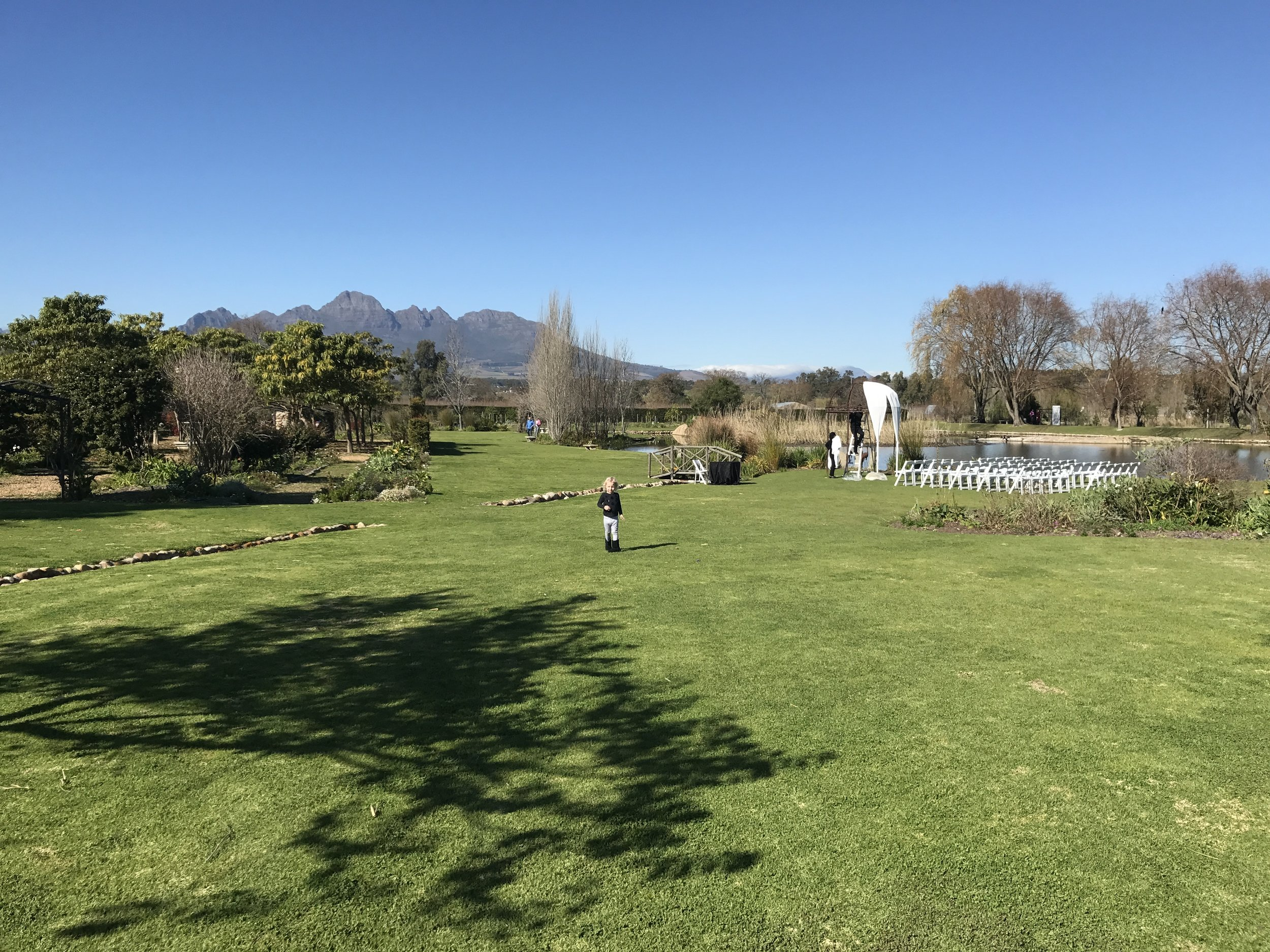 Gorgeous views of the Helderberg and why not tie the knot here?