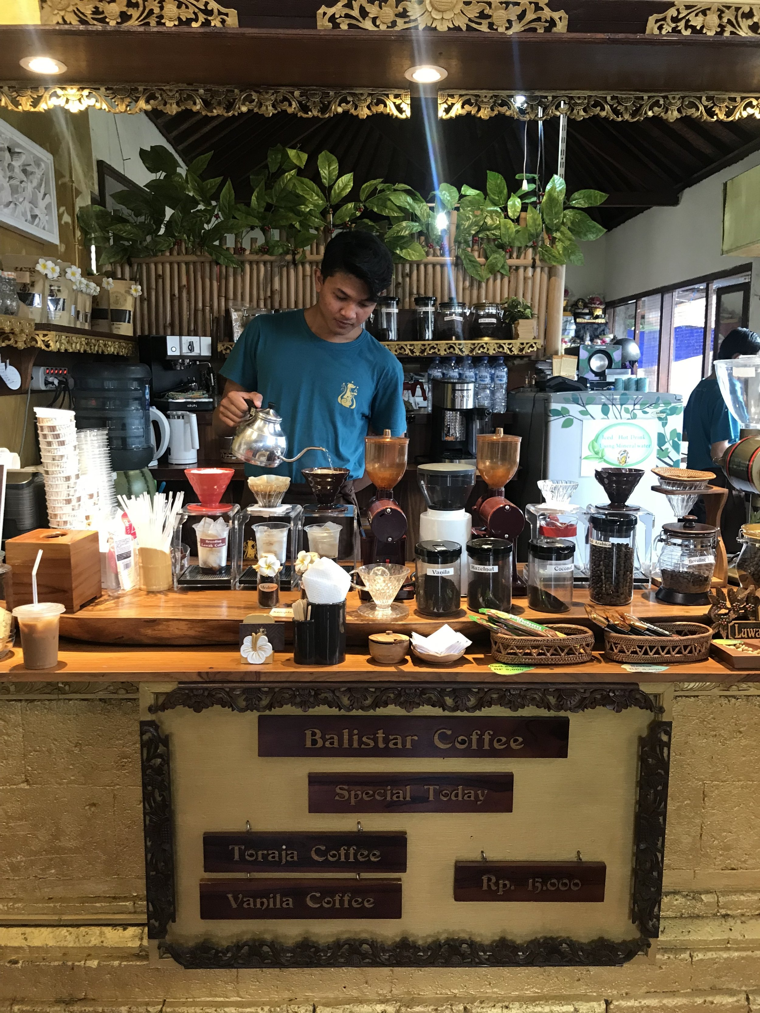 Trying out the very different coffee flavours in the market