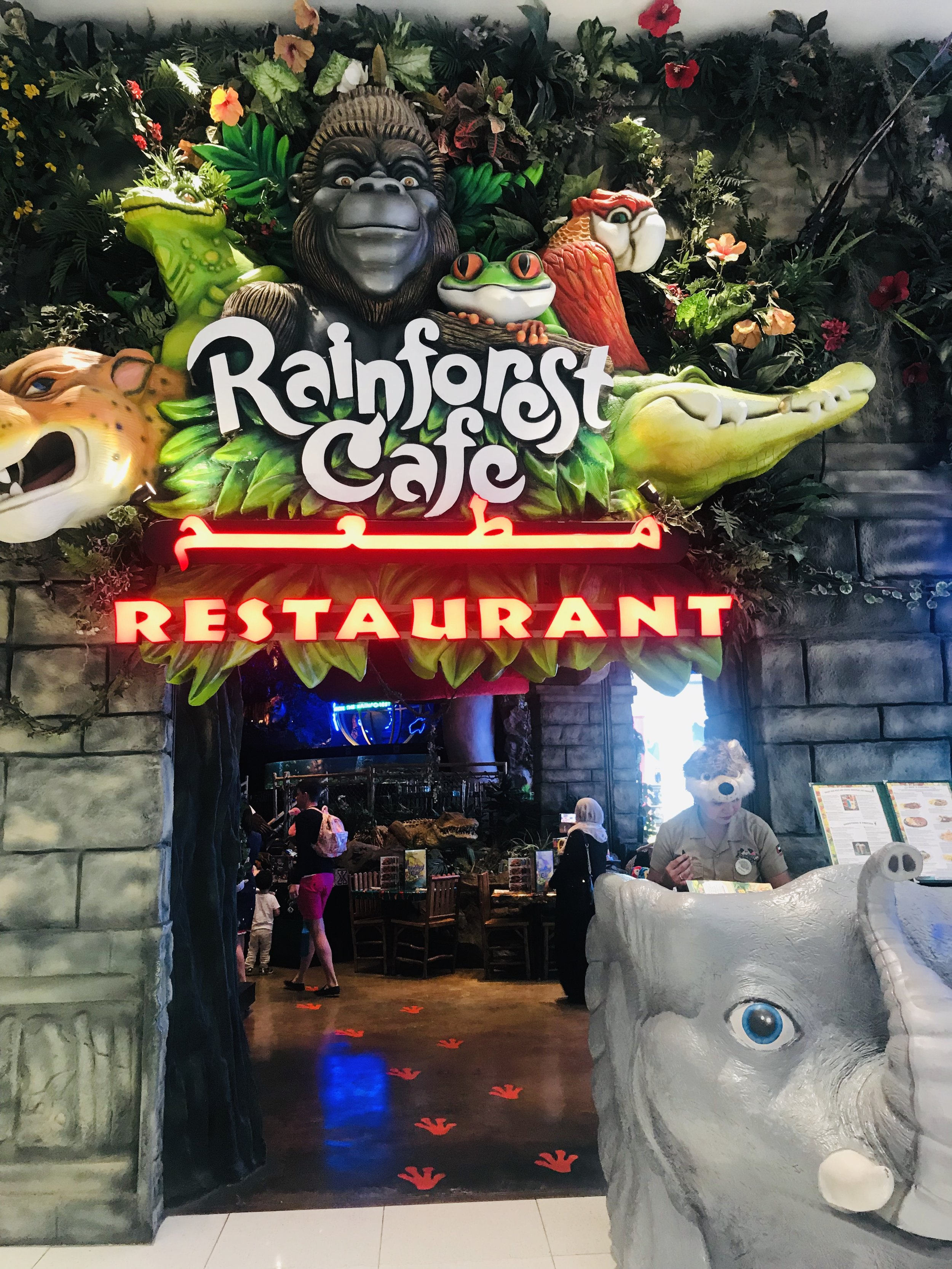 Entrance to the Rainforest Cafe