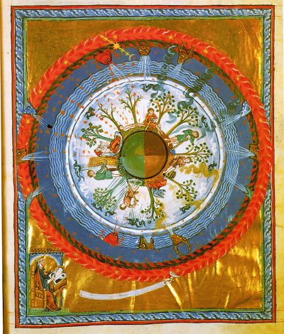 One of Hildegard's visions, of a flourishing, fertile earth.