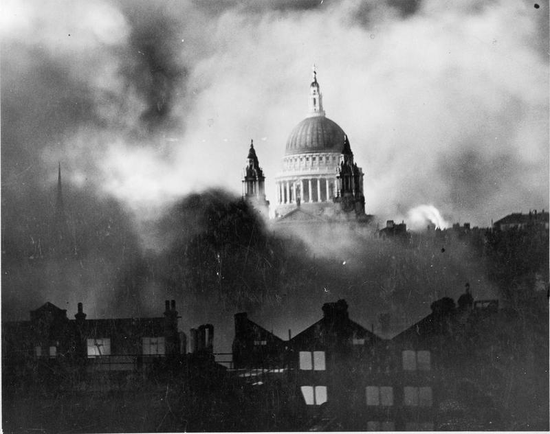 St Paul's during the blitz.