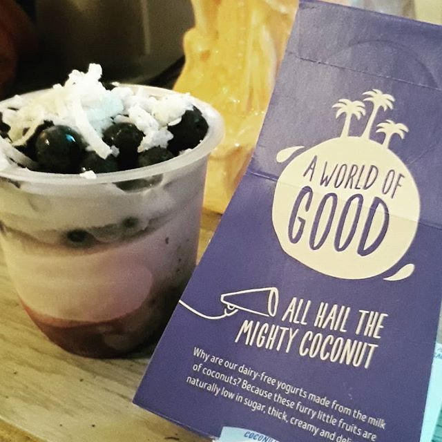 These quaint little beauties came in my #hungryharvest box on Saturday! Coconut vegan yogurt with blueberries 😋 I will have a demo box tonight at my Nutrition class and show how to make a nice smoothie bowl🍽 using some awesome fresh fruit. Link in profile. Grab your spot now! #raleigh #nc #veganyogurt #cookingclass #learntocook #plantbased #breakfast #raleighnc