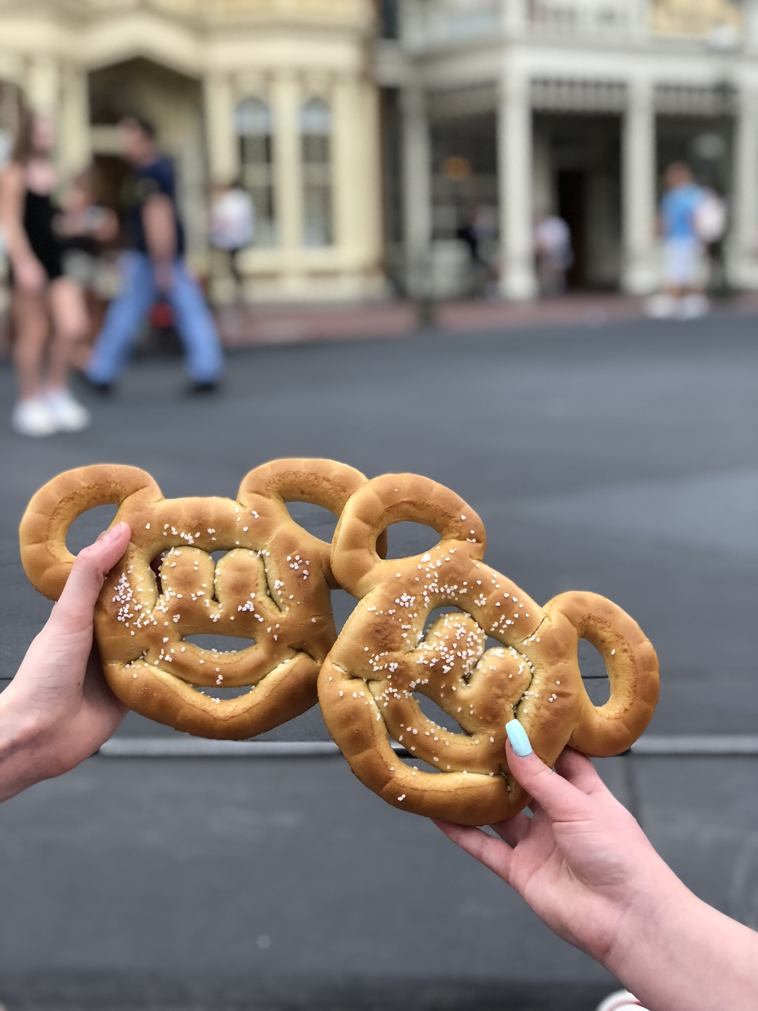 If you need a snack, grab a Mickey shaped pretzel!