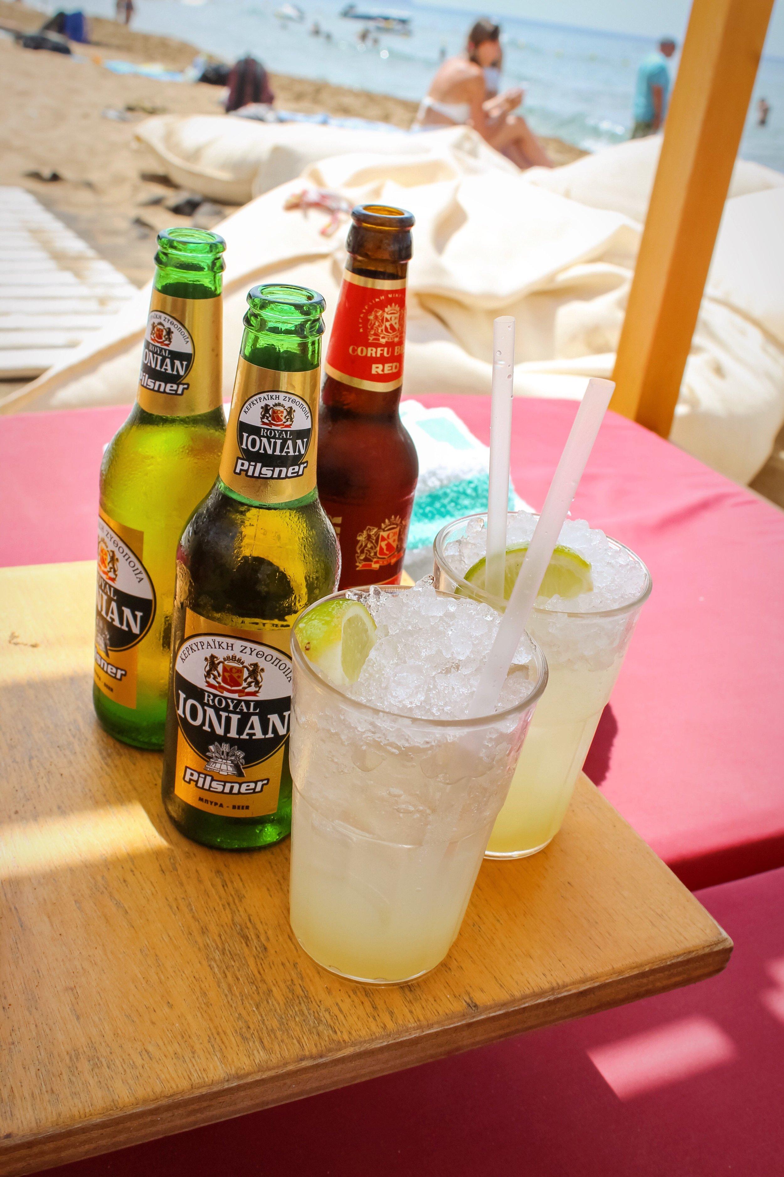 A popular drink in Corfu is ginger beer. (The ginger lemonade is good too!)