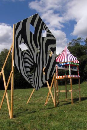 Zebra Snowflake/Spinning Circus Tent