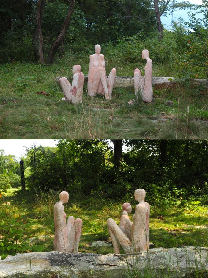 Huddled Figures