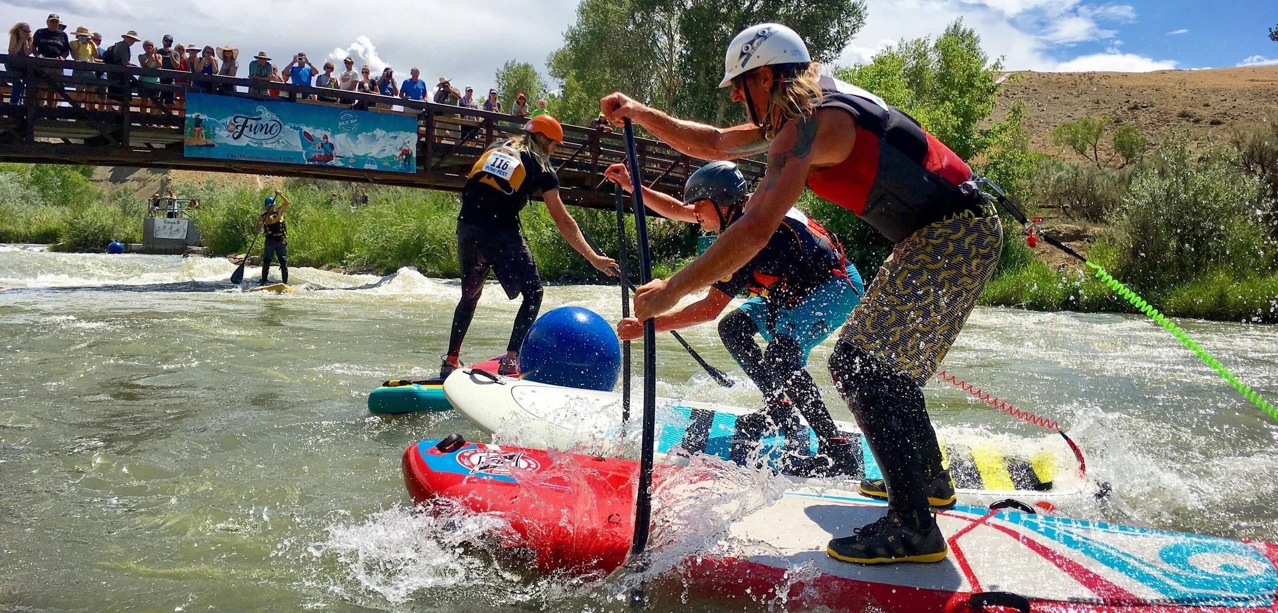 Stand up paddle board SUP Cross at the Montrose FUNCFest 2017