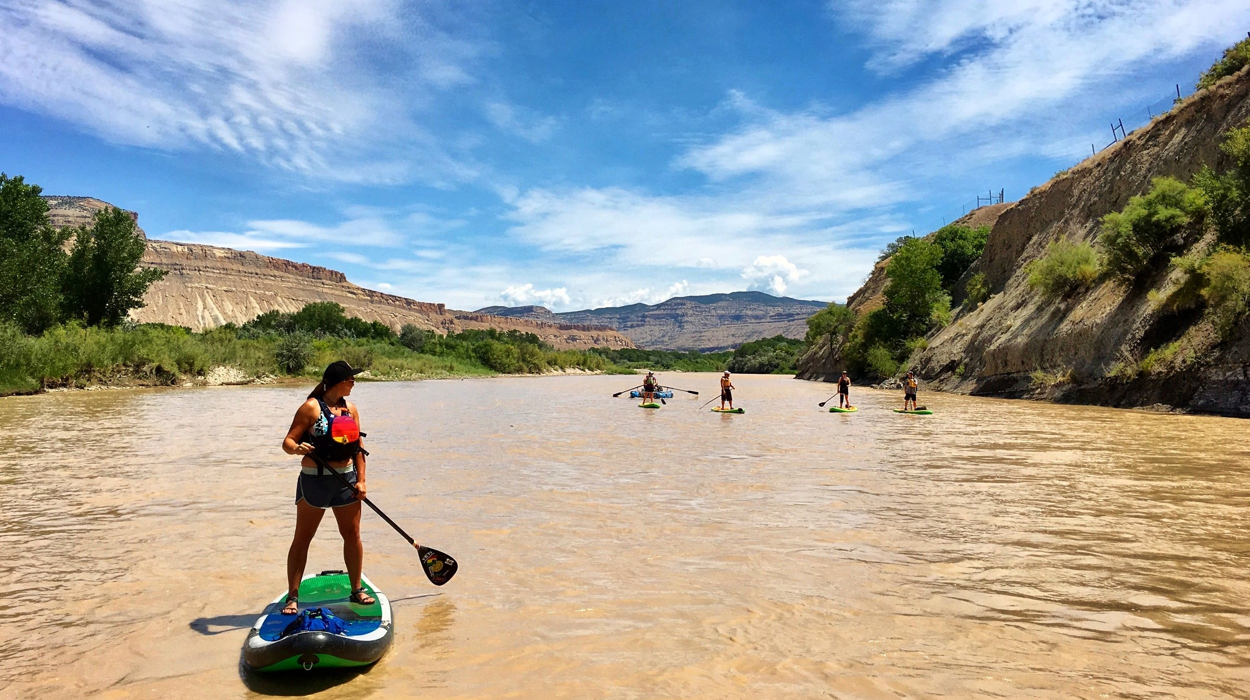 Stand up paddle boarding the Colorado River in Grand Junction Colorado