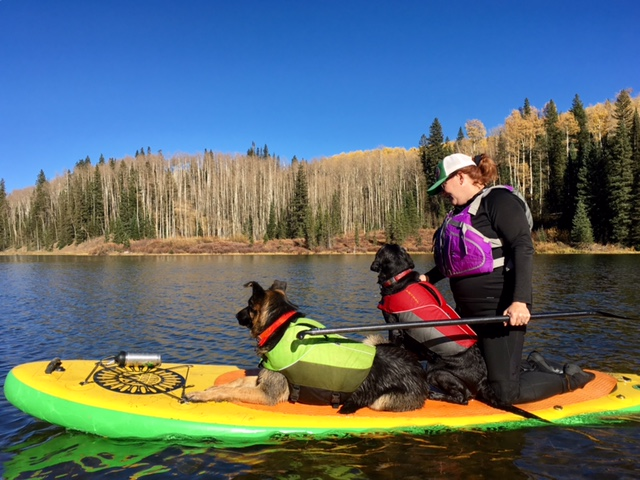 You make your dog wear a PFD, make yourself wear one too! (P.S. our favorite doggy PFDs come from Astral!)