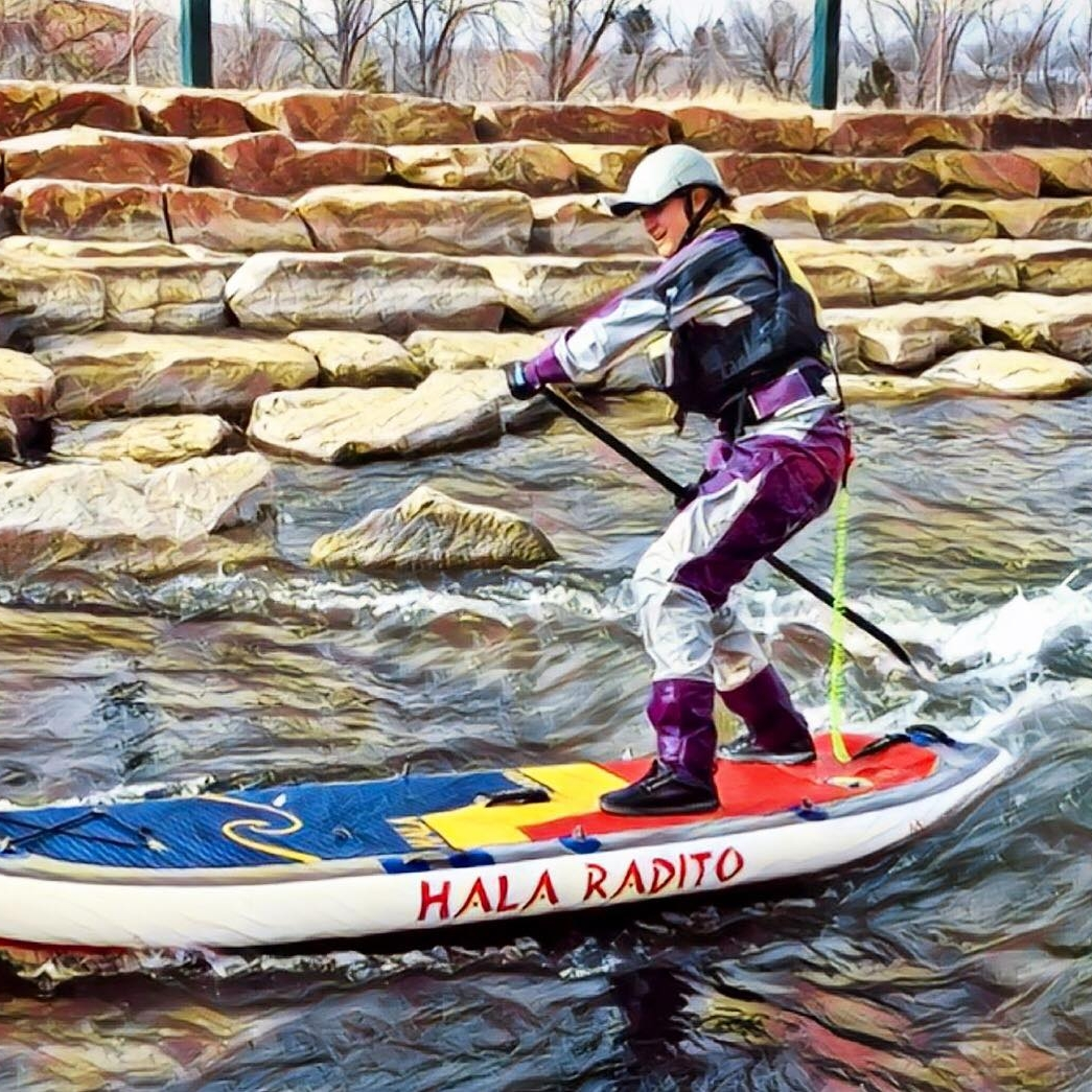 Surfing the Radito at the Montrose Water Sports Park on Feb. 4, 2018!  [Ph: Christianna Maurer]