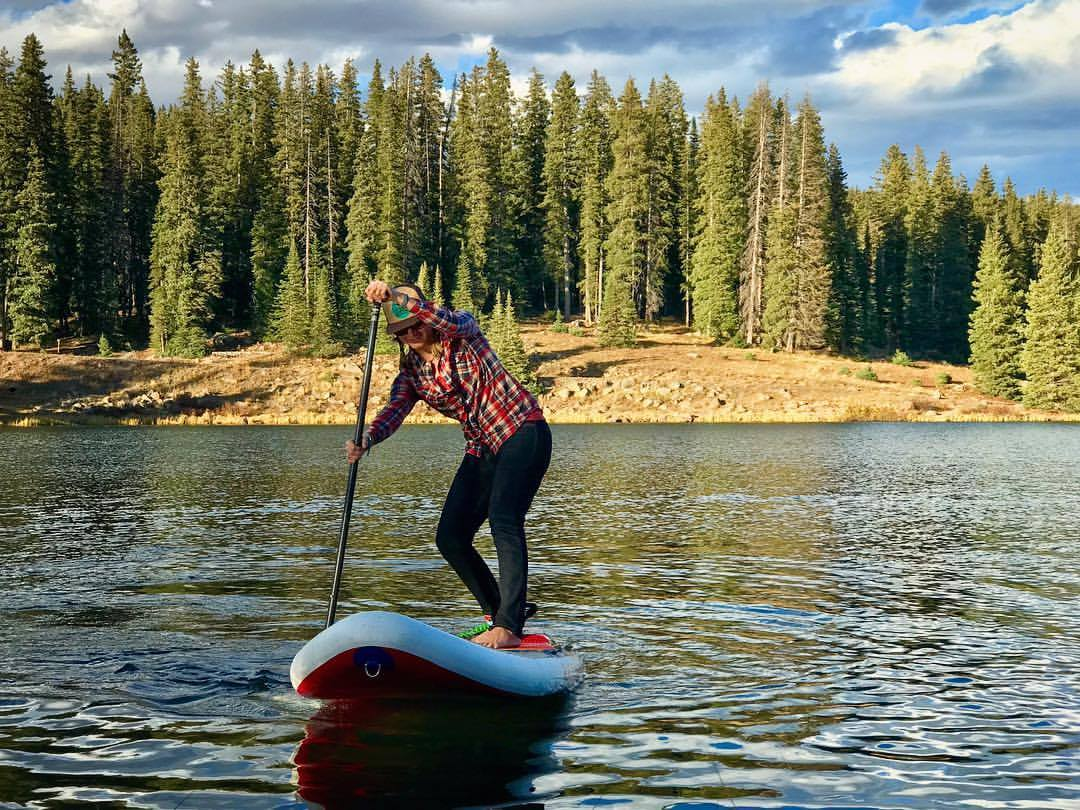 The Radito, being so playful, makes even the most blah days on flat water more fun! Here we are playing around in October on The Grand Mesa!  [Ph: Kattie Neesham]