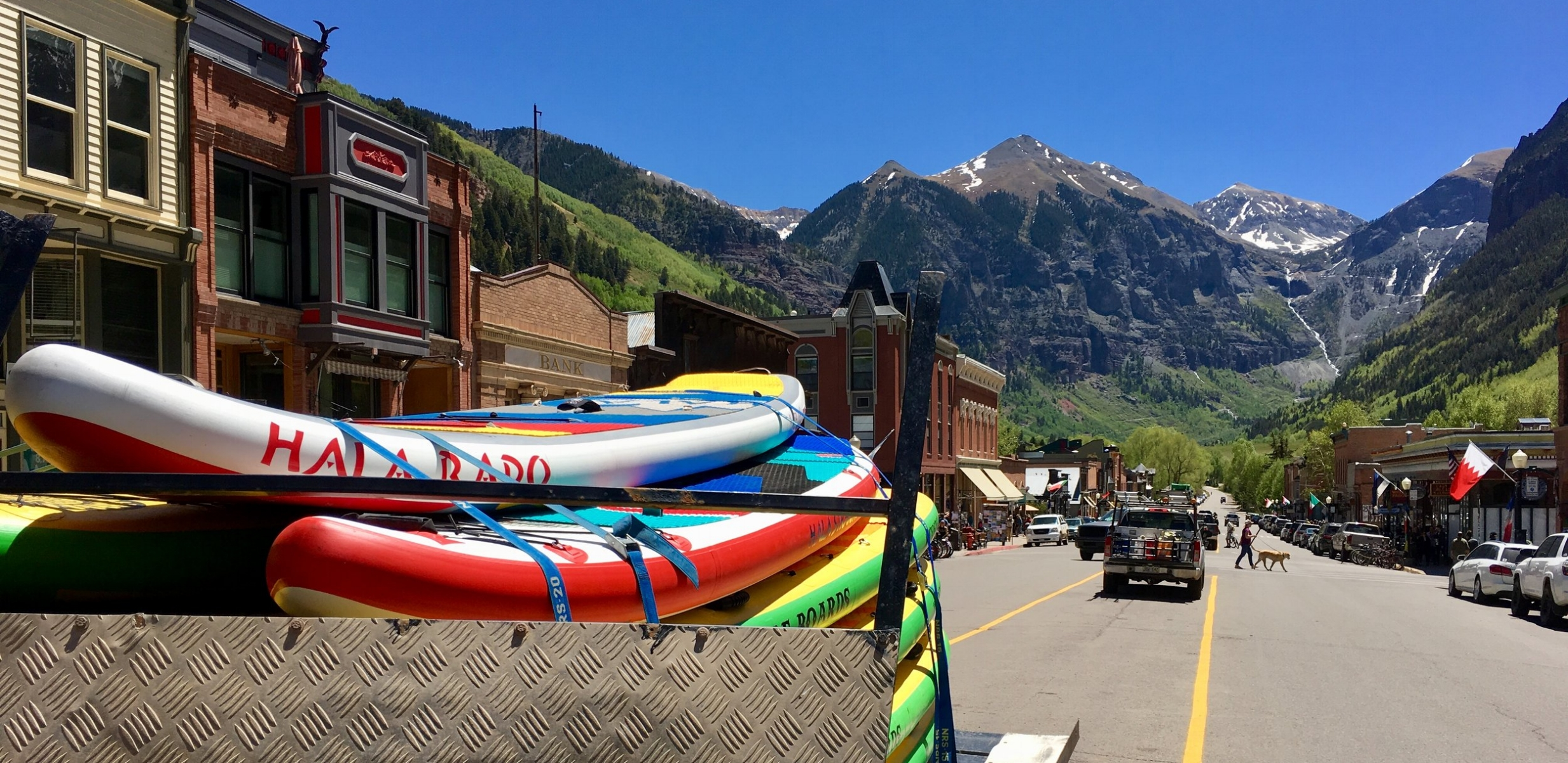 Telluride, Colorado guided SUP trip with Telluride Outside. Stand up paddle board lessons and rentals.