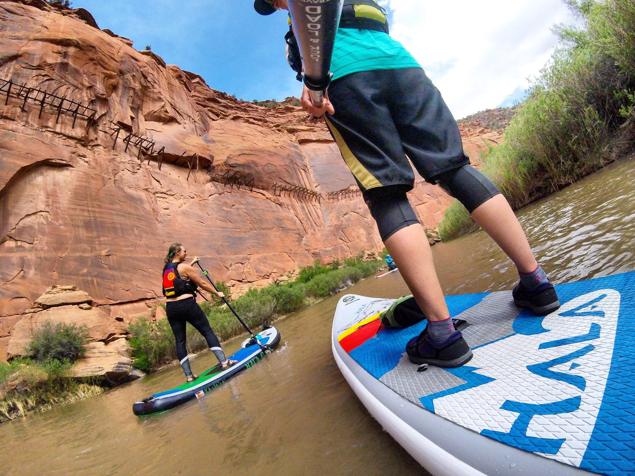 Stand up paddle boarding can take you places you never imagined before, like on the Dolores River under the historic Hanging Flume.