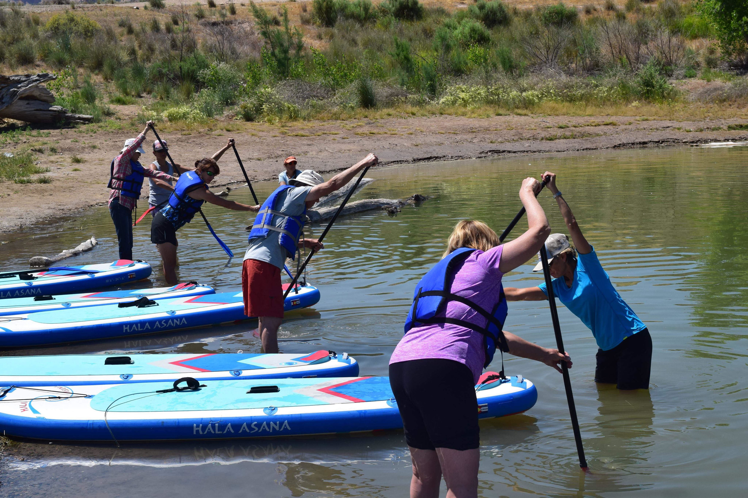 There are numerous businesses who offer SUP lessons and clinics. Learn the proper techniques and skills from professionally trained paddle boarders like those at  Grand Junction Stand Up Paddle !
