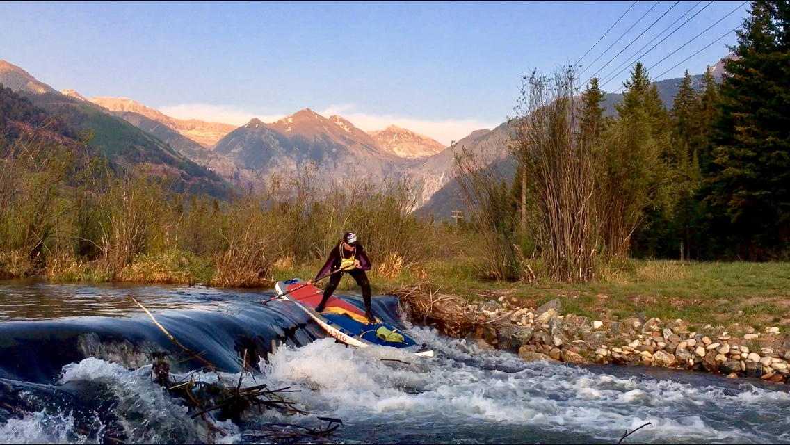 The Radito crushed the new beaver dam on the San Miguel River alond Telluride's Valley Floor!  [Ph: Christianna Maurer]