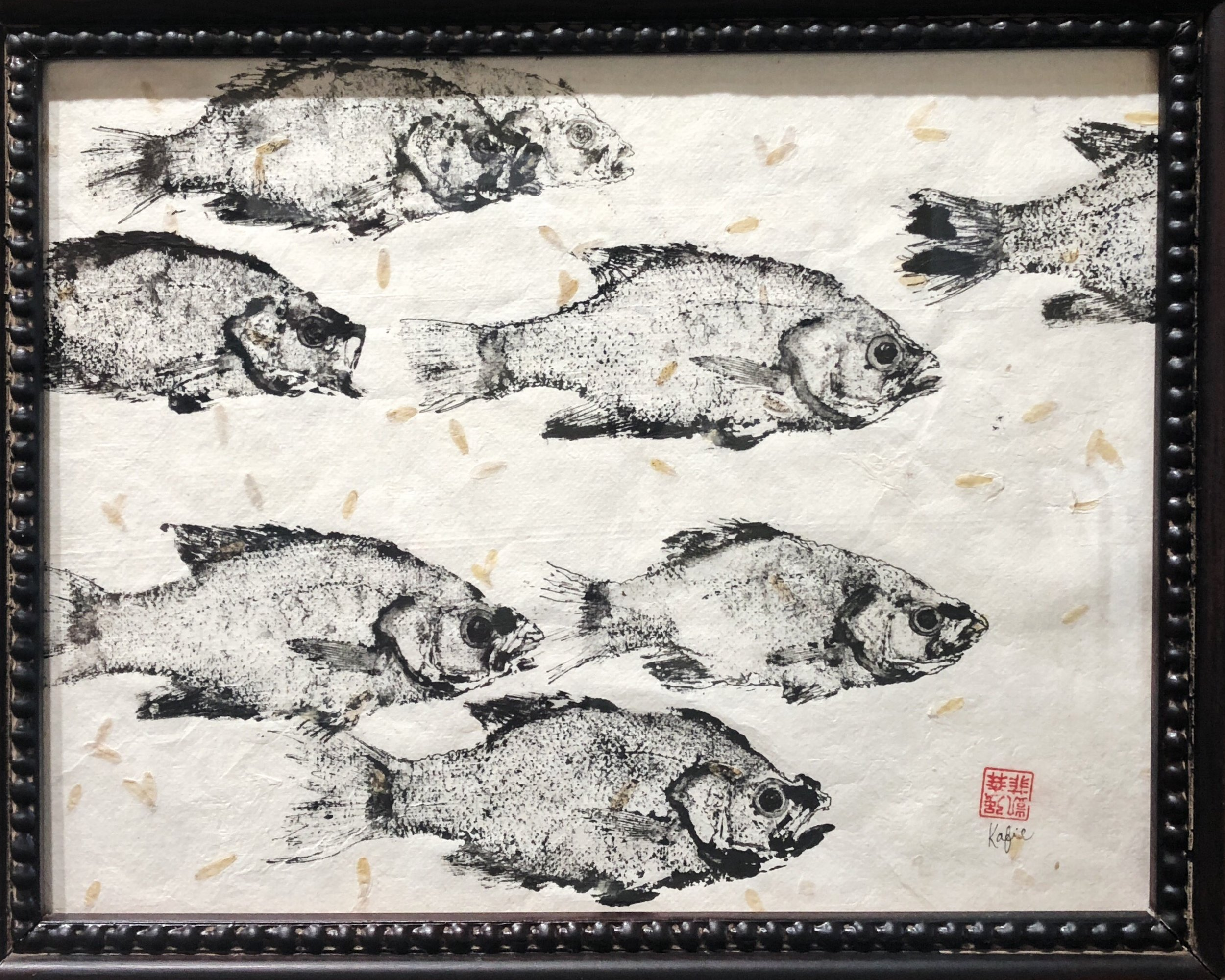 School of Gyotaku,  Kafie Carman