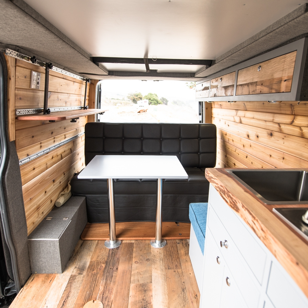 Bench Seat/Sofa Bed - Suitable for ride along passengers. For Mercedes Sprinter®, Dodge Pro-Master® and Ford Transit®.