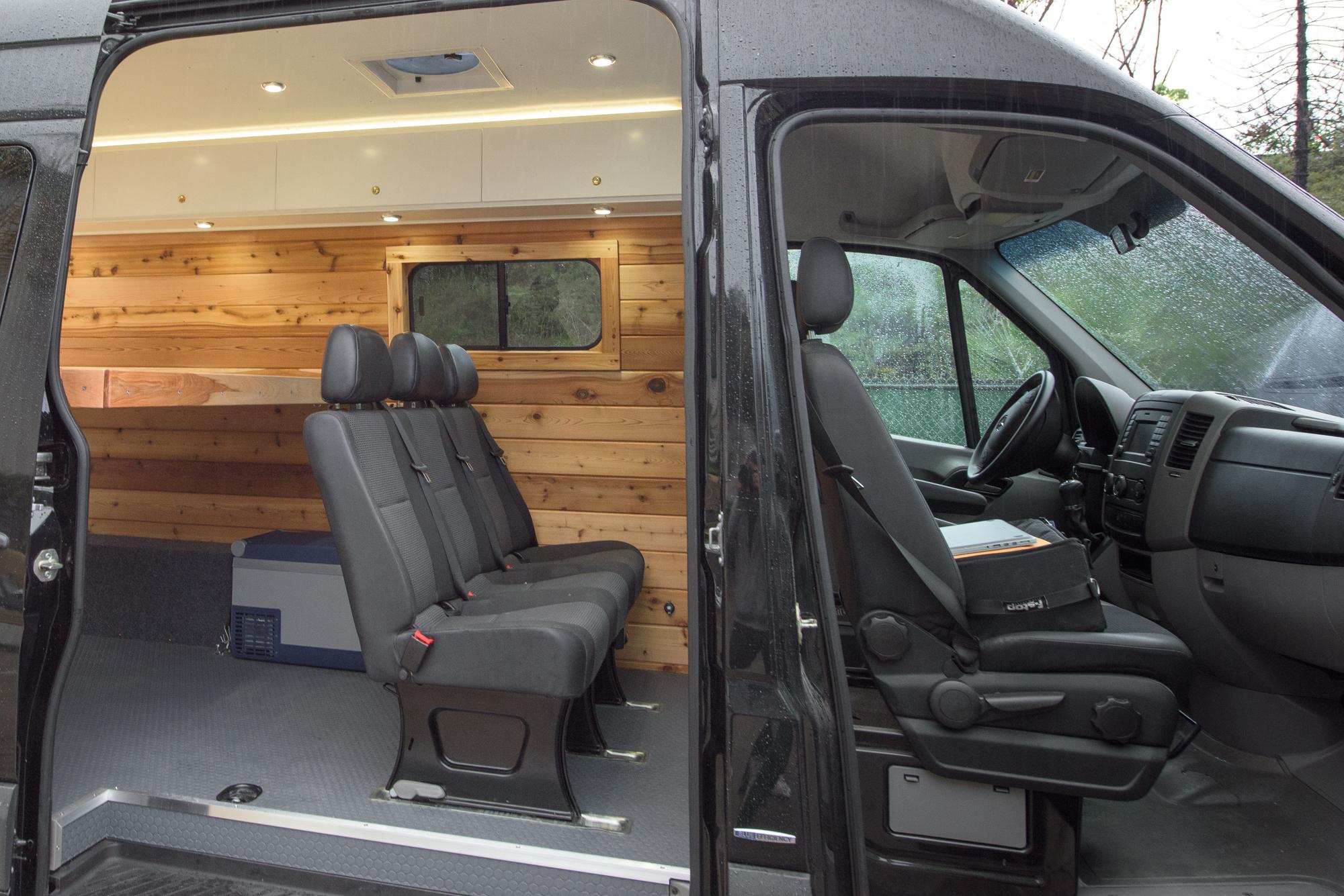 Stock 3 Passenger Mercedes Sprinter VanBench Seat - For Mercedes Sprinter® vans only.Quickly Removable.