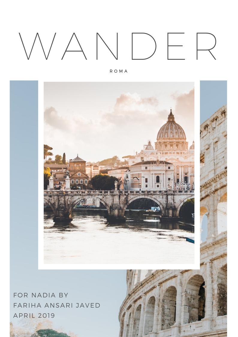 Wander travel Fariha ansari javed Rome