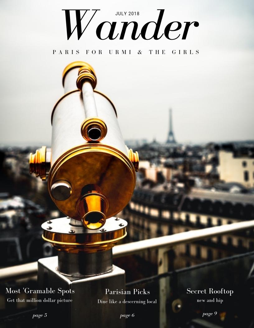 Wander travel Fariha ansari javed Paris