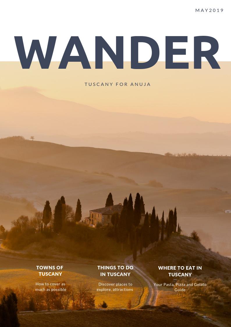 Wander travel Fariha ansari javed Tuscany