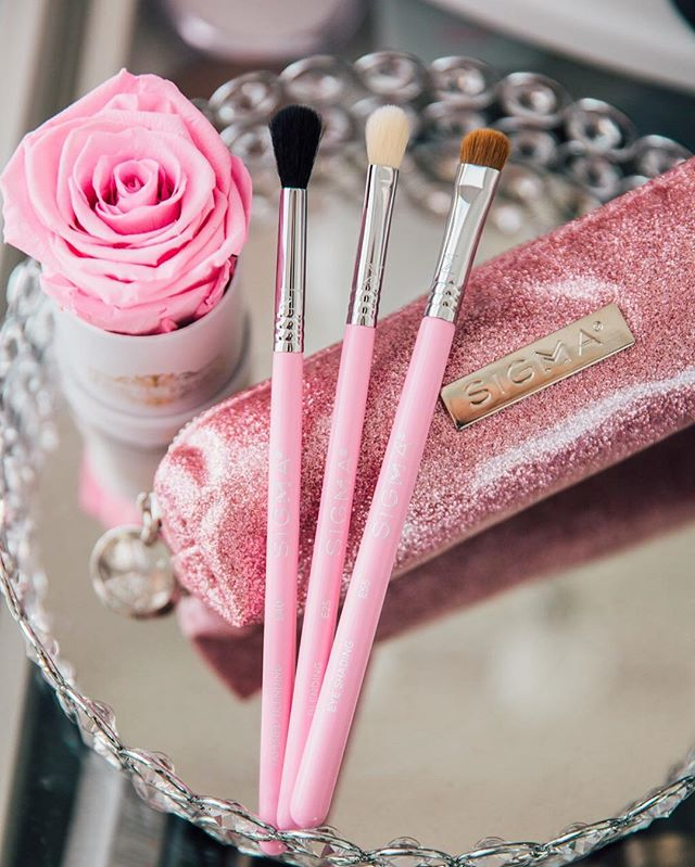 @BeBrightPink and my favorite brand @sigmabeauty have teamed up with this gorgeous Passionately Pink Brush Set for $39! This is for such an amazing deal and the best part about it is that 20% of the proceeds go to #BeBrightPink They are an organization the helps women put their health first and help them prevent and detect Breast and Ovarian Cancer early. Helping all women live a happy and healthy life. Brush set is available on #sigmabeauty If you head to my stories there will be a swipe up link to shop it and if you also scroll down you can more information on @bebrightpink