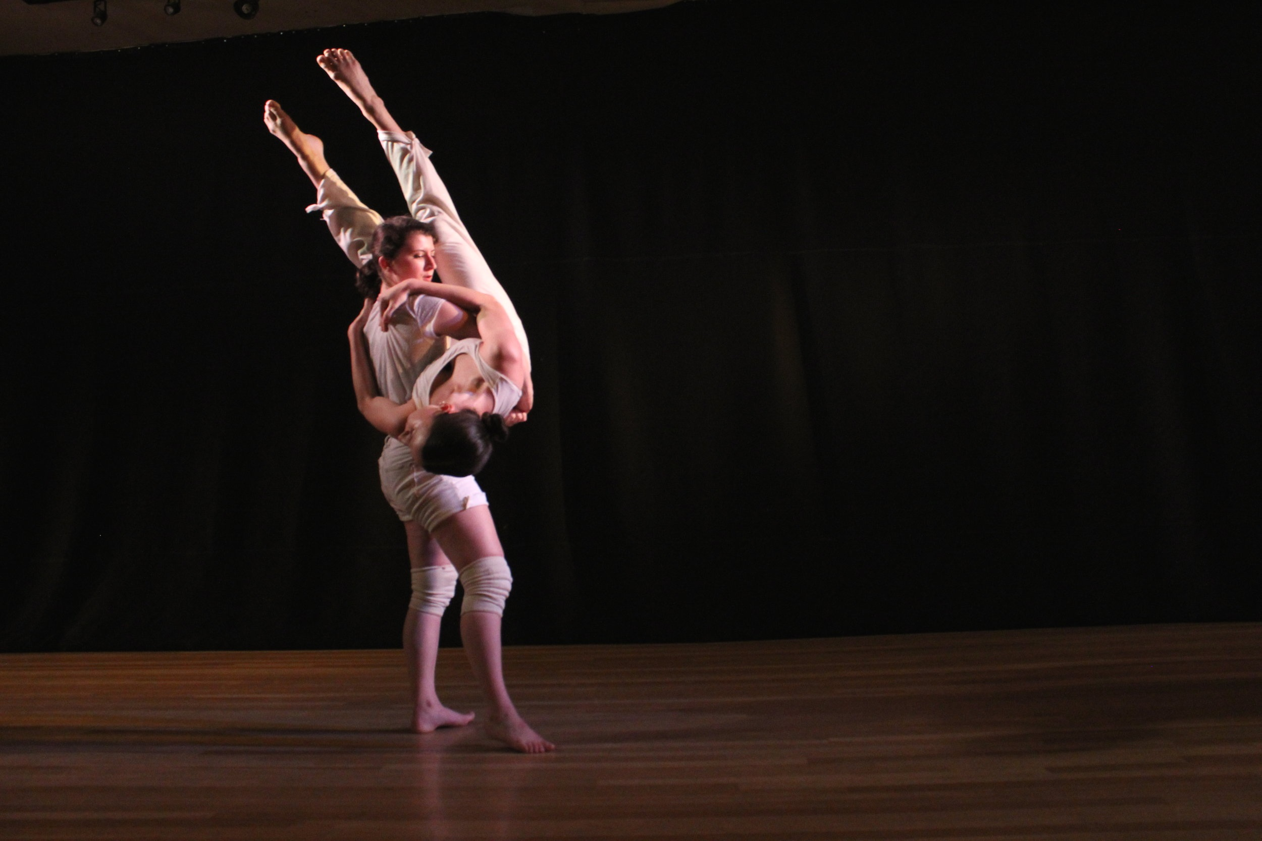 Choreographer:    Evelyn Joy Hoelscher / Spaces of Fontana       Dancers:    Lea Torelli and Madi McGain    Photo by Joseph Heitman of One Day Dance