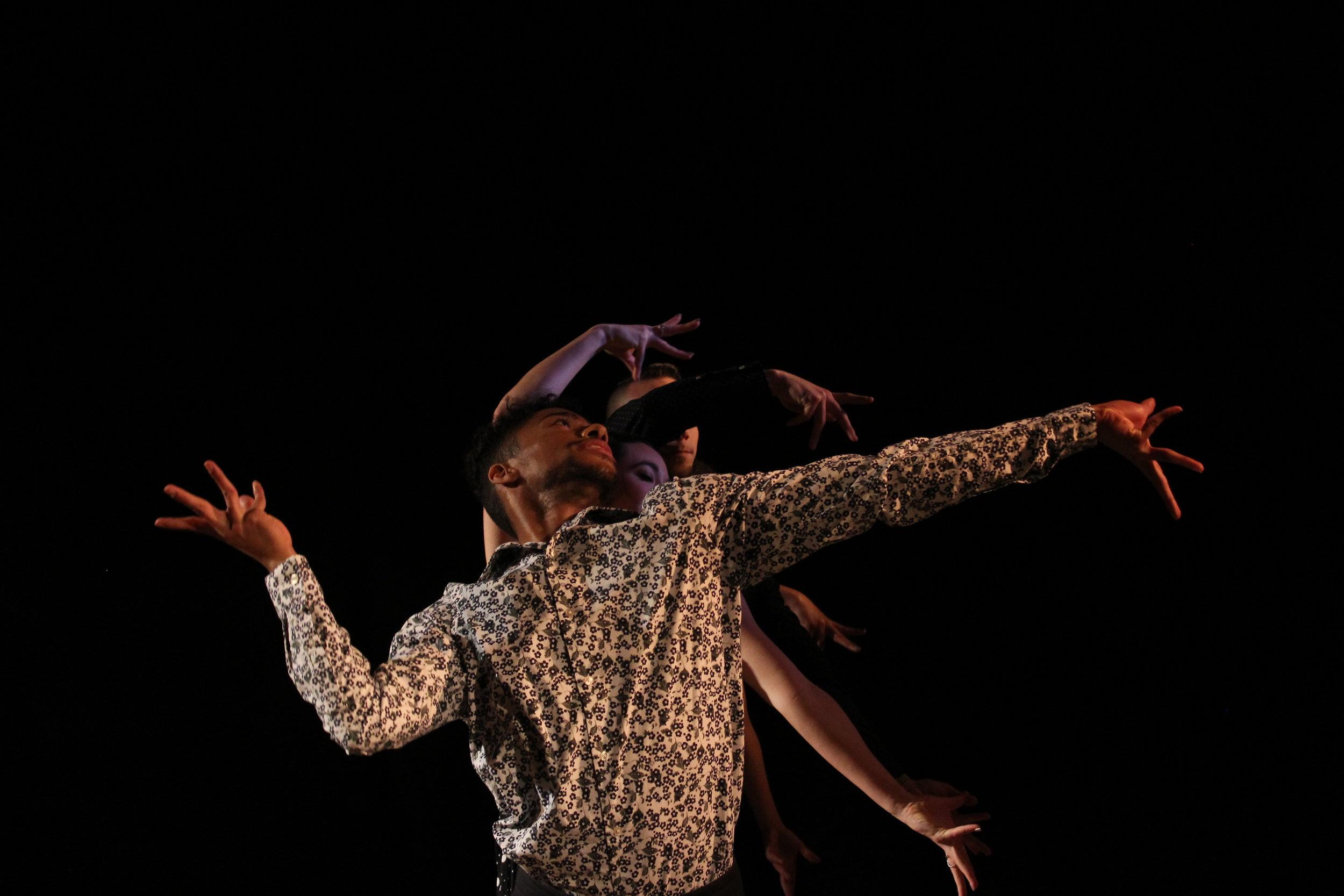 Choreographer:    Talia Putrino     Dancers:    Jared Cutler, Sadie McNamara, EvanMatthew Stewart, and Johanna Taylor      Photo by Joseph Heitman of One Day Dance