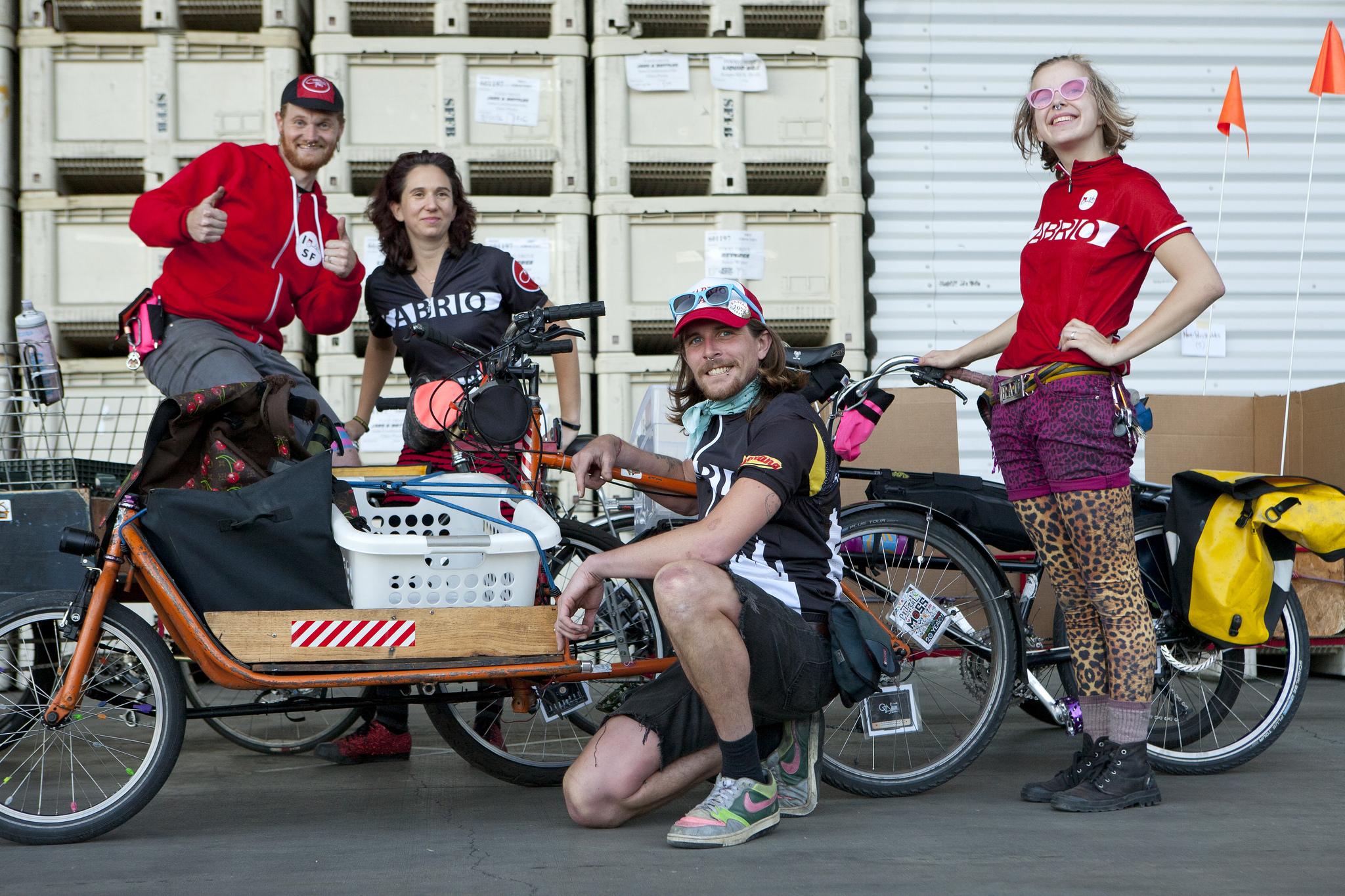 Team Cabrio Taxi   (Colin Sanders, Tatiana, Brett, Mimosa, Keith). Photo by Jonathan Koshi