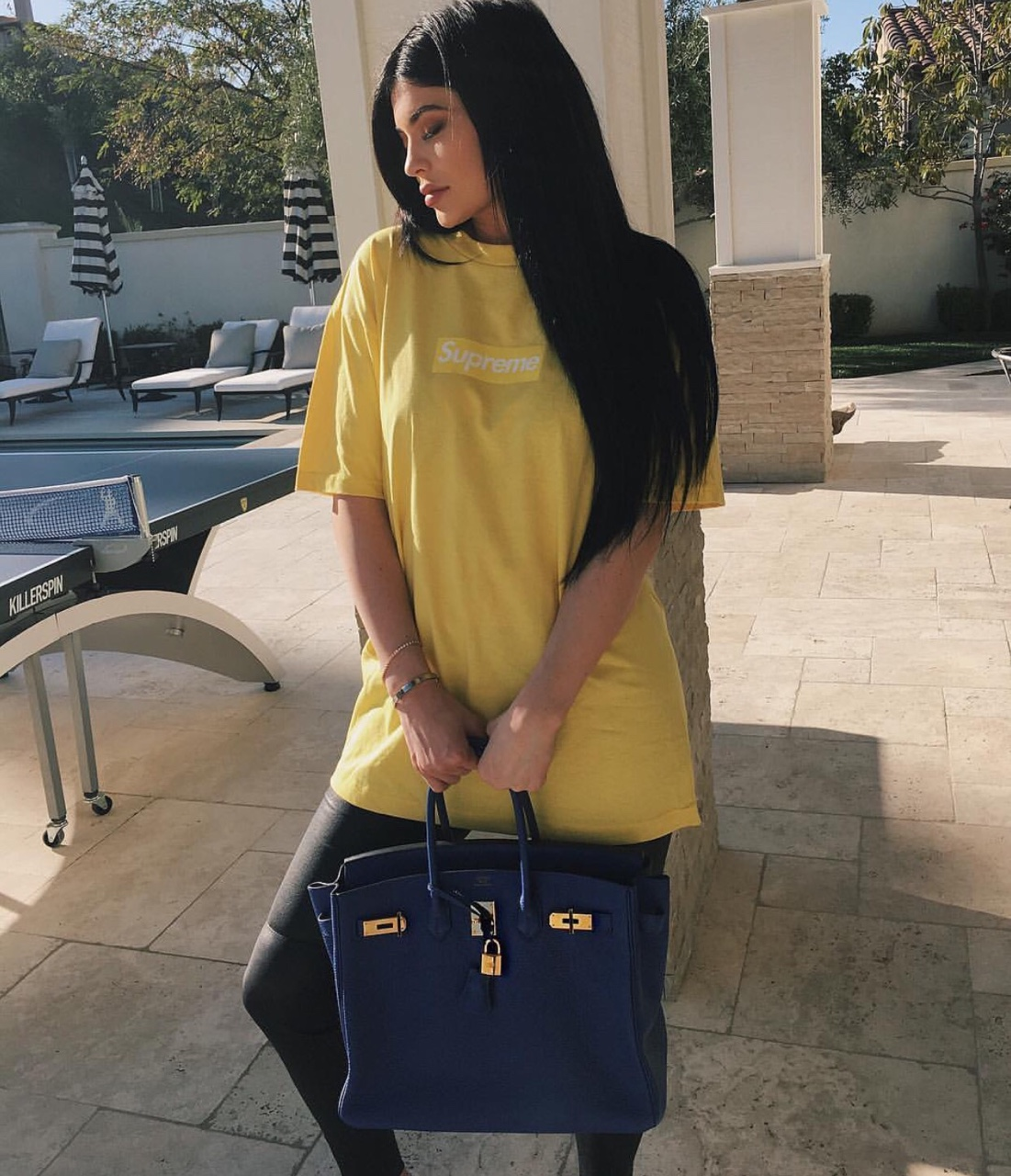 Kylie Jenner with an Hermes Kelly bag