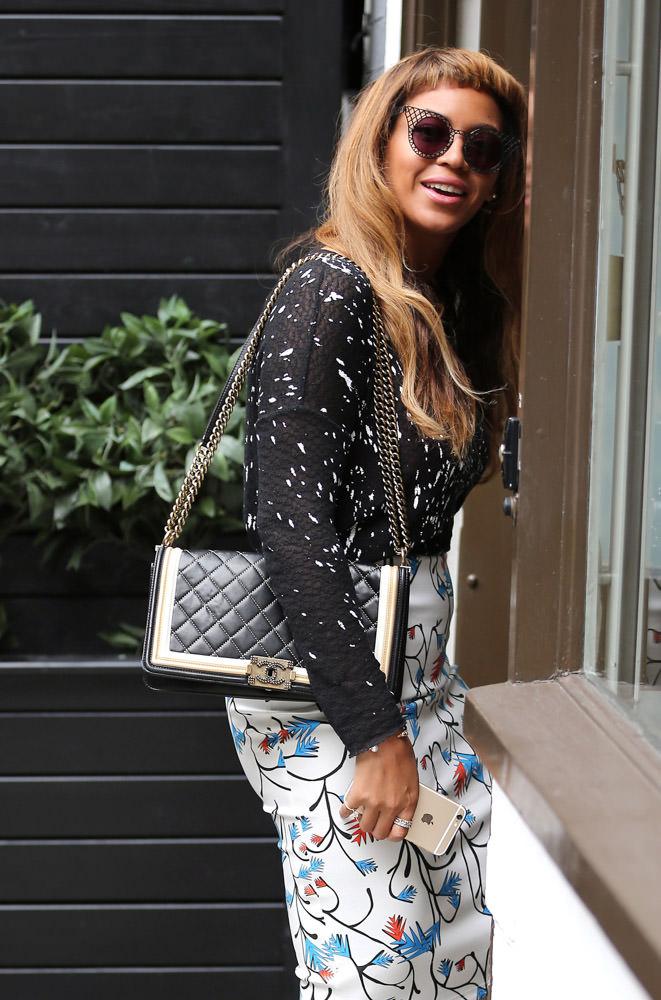 Beyonce rocking her Chanel Boy Bag