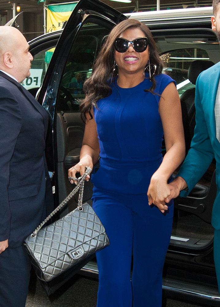 Taraji P. Henson sporting her Chanel Reissue Flap bag