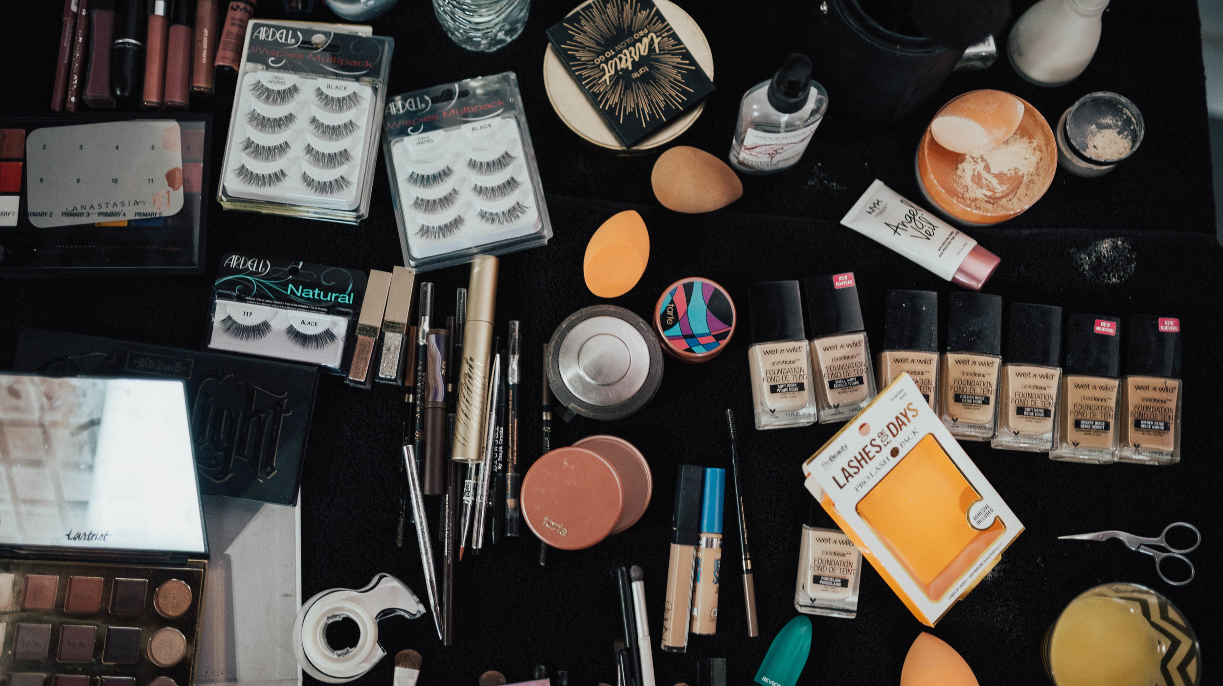 Picture I took for my amazing makeup artist of barely any of the products I just mentioned. I know I hate me too.