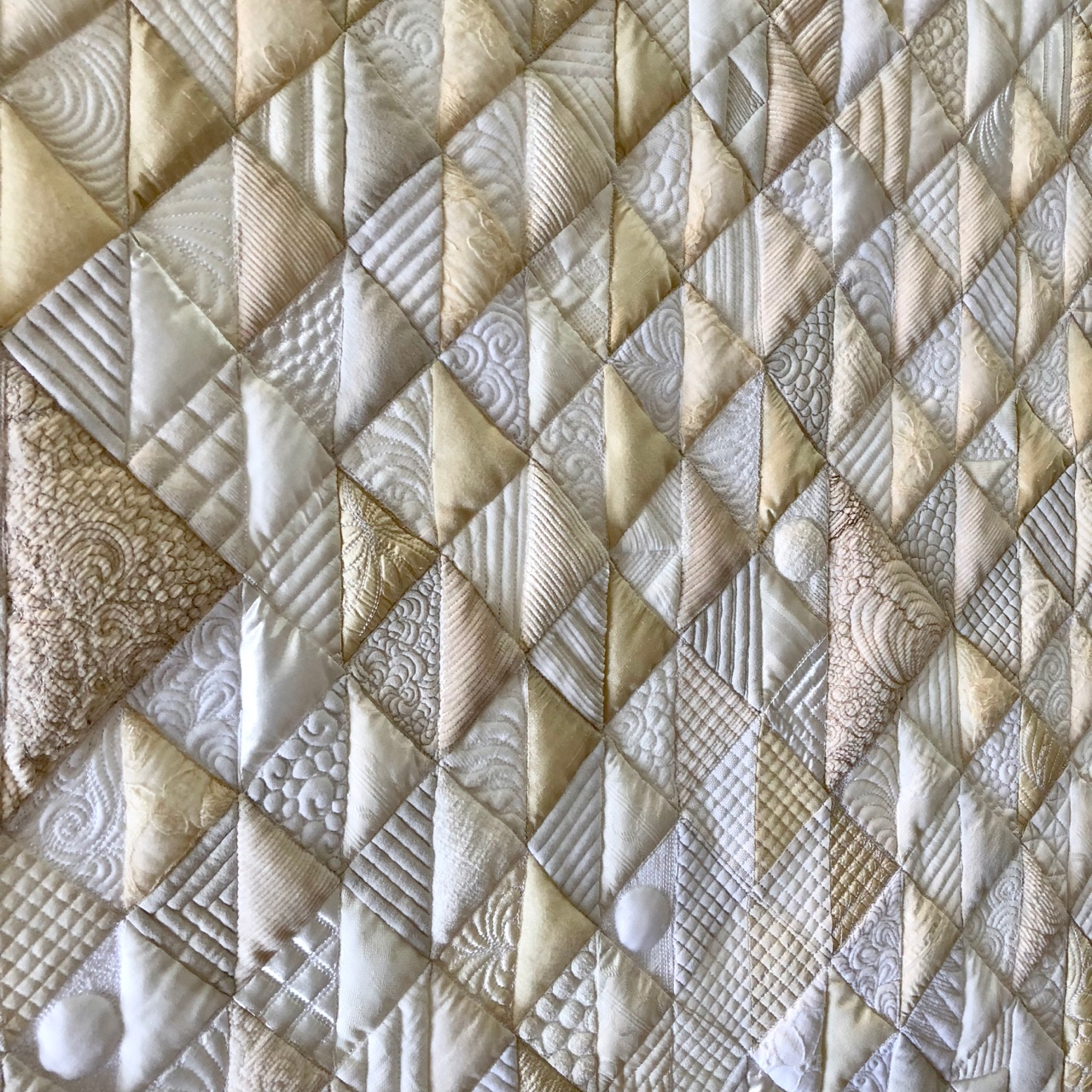 Responses to Gee's Bend - Swarthmore College, PA (2018) - For Annie – pieced and quilted by Rachael DorrImage: Detail of For Annie