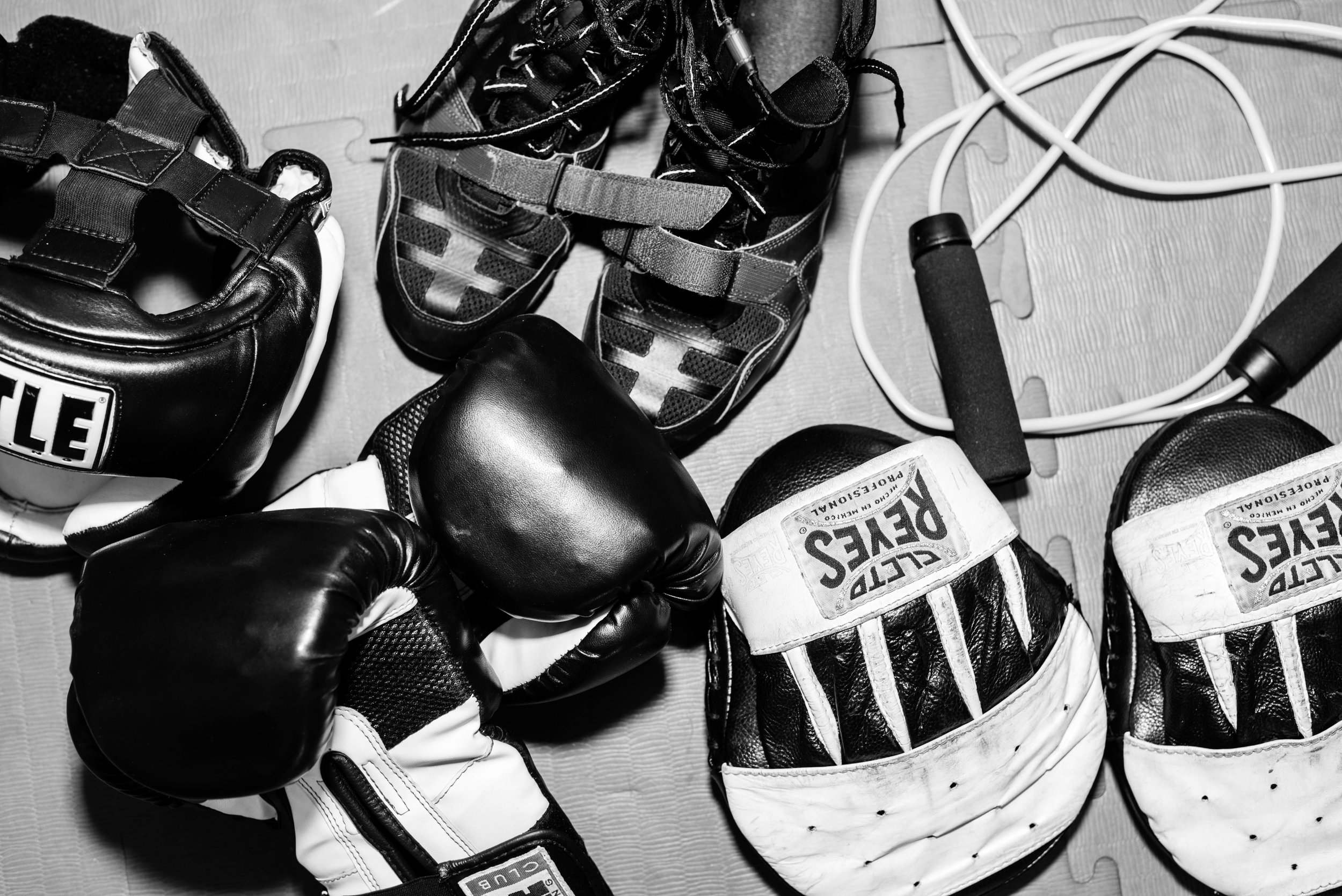 Boxing Gear at Grealish Boxing Club, Boston